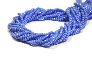 Slavík 4x3 mm, 140 ks, plnobarevná světle modrá s AB pokovem