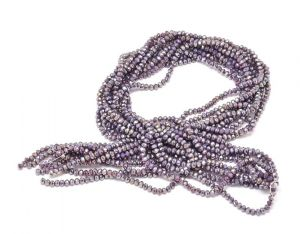 Slavík 6x4 mm, 95 ks, plnobarevná lila s AB pokovem
