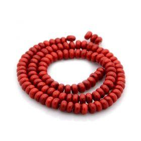 Tyrkys, syntetický, slavík 4x6 mm, 119 ks, červený
