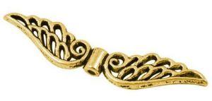 Velká andělská křídla 51x14x4, zlatá antik