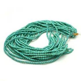 Tyrkys, syntetický, kulička 8 mm, 50 ks, zelená