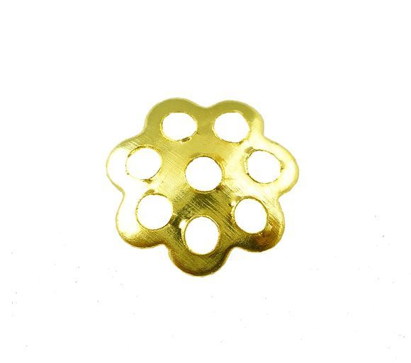 Kaplík 6 mm, 100 ks, zlatý