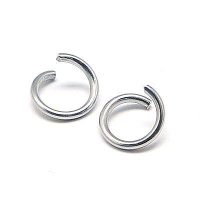 Spojovací kroužek otevřený 6x1 mm, 100 ks, chirurgická ocel 304
