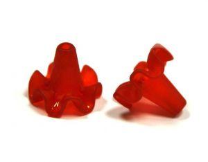 Akrylový zvonek 18x20 mm, červená