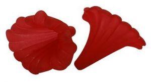 Akrylový zvonek 41x35 mm, červený