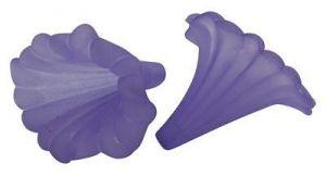 Akrylový zvonek 41x35 mm, fialový