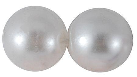 Imitace perly 10 mm, 30 ks, bílá