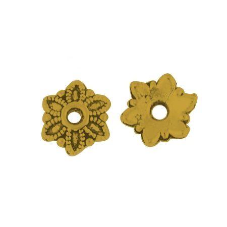 Kaplík 7 mm, 20 ks, antik zlatá