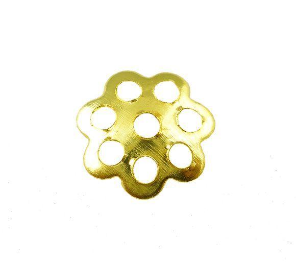 Kaplík 8 mm, 50 ks, zlatý