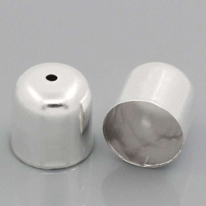 Koncovka 12x12 mm, vnitřní průměr 11 mm, 2 ks, stříbrná
