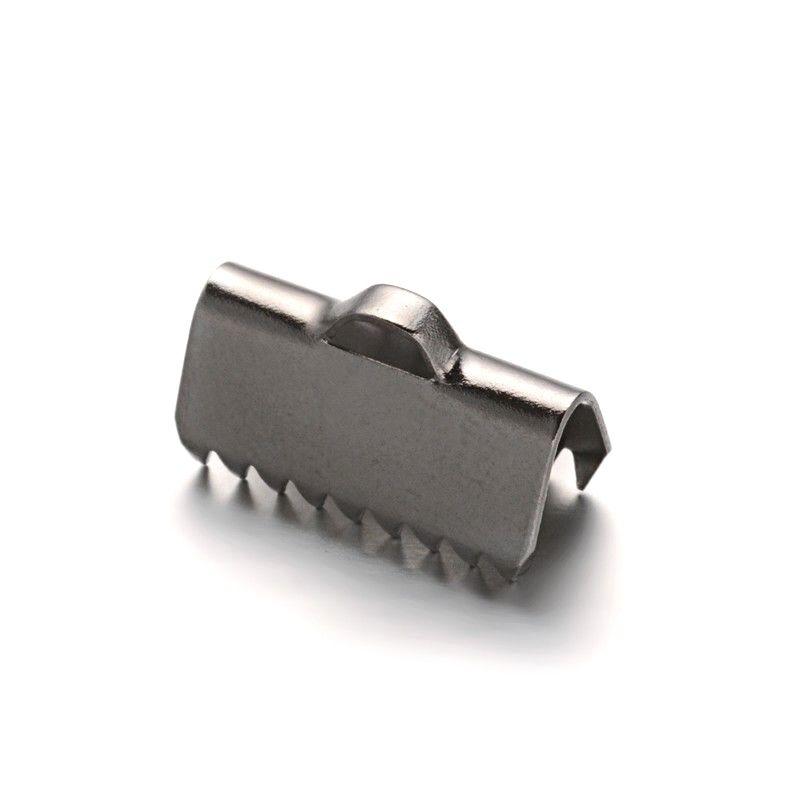 Koncovka na stuhu z chirurgické oceli 13x7,5 mm, 2 ks