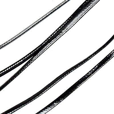Koženka metráž 2x1 mm, 1 m, černá