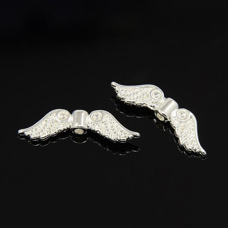 Křídla anděla 23x7 mm, 50 ks, stříbrná