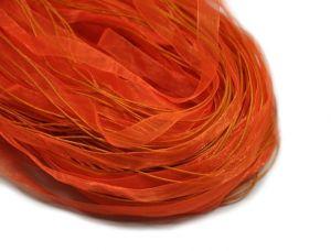Organzová stužka se zapínáním, 42 cm, neonově oranžová