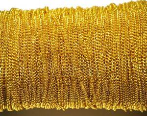 Řetízek 3x2 mm, plochý, broušený , 1 m, zlatý