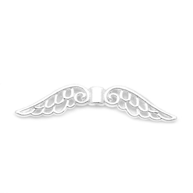 Velká andělská křídla 51x14x4, 20 ks, stříbrná