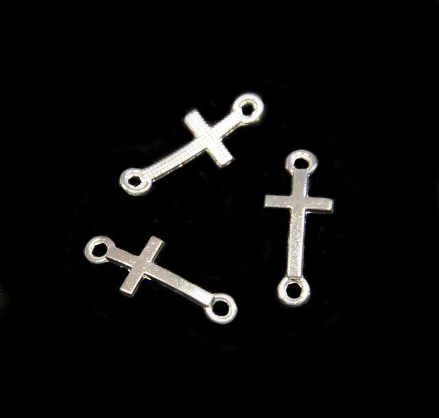 Spojovací díl křížek 20x8 mm, stříbrný