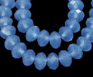 Slavík 8x6 mm, 72 ks, matná ledově modrá