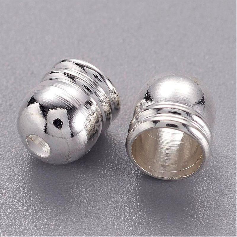 Kaplík 6 mm s vnitřním průměrem 5,5 mm, stříbrný