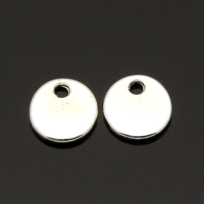 Mini přívěsek 8x1,5 mm, 20 ks, stříbrný