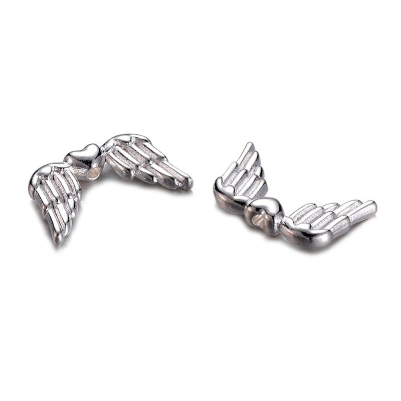 Křídla anděla 18,5x11 mm, 50 ks, stříbrná