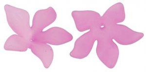 Akrylový květ  29 mm, 2 ks, růžový