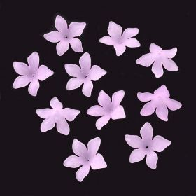 Akrylový květ 29 mm, 2 ks, růžovofialový