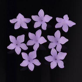 Akrylový květ 29 mm, 2 ks, fialový