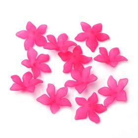 Akrylový květ 29 mm, 2 ks, tmavě růžový