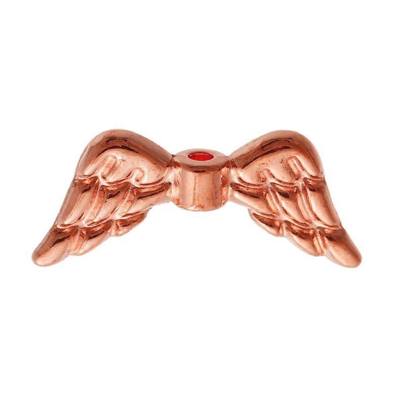Křídla anděla 19x8 mm, růžová zlatá