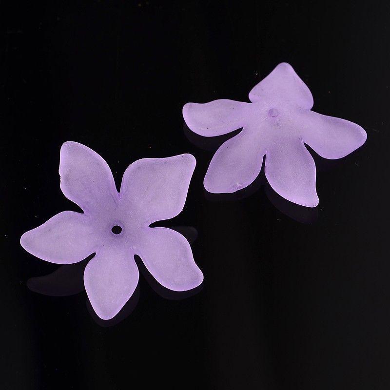 Akrylový květ 29 mm, 20 ks, fialový