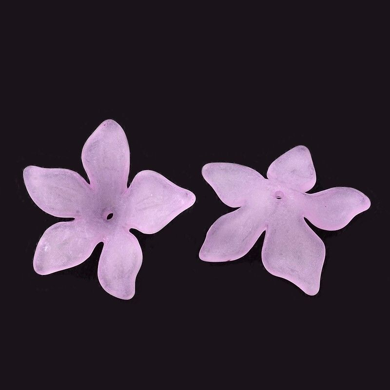 Akrylový květ 29 mm, 20 ks, růžovofialový