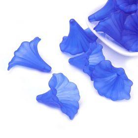 Akrylový zvonek 41x35 mm, modrý