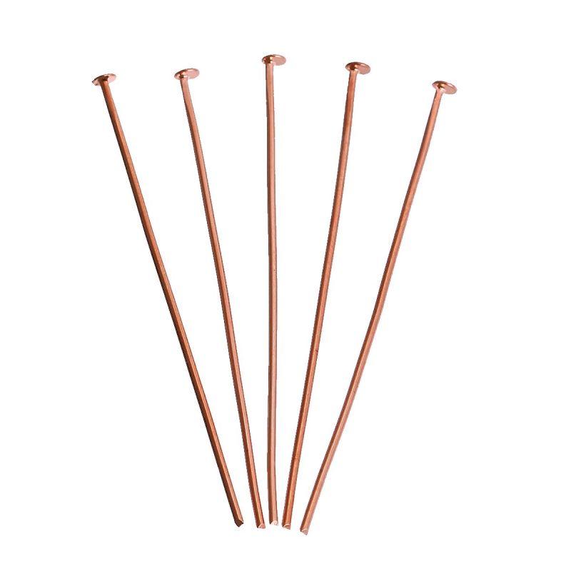 Ketlovací nýt 45x0,8 mm, 20 ks, růžová zlatá