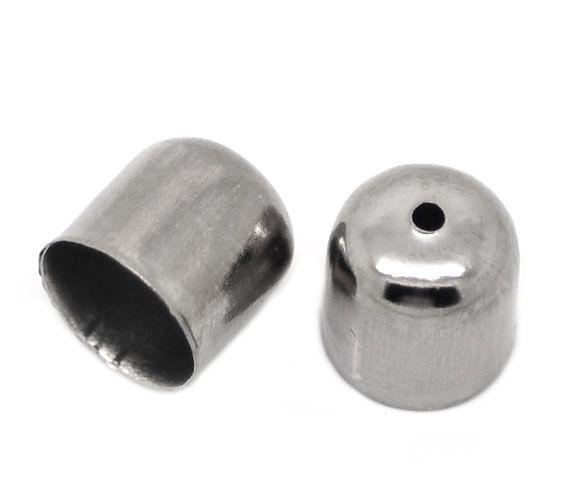 Koncovka 10x11 mm, vnitřní průměr 9 mm, 2 ks, černá