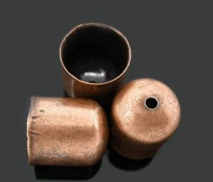 Koncovka 10x11 mm, vnitřní průměr 9 mm, 2 ks, měděná