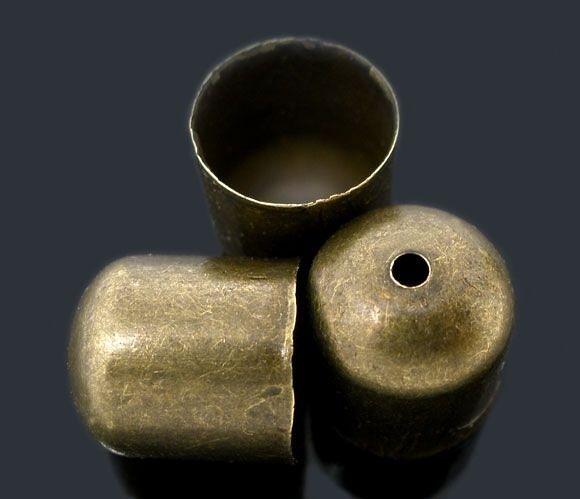 Koncovka 10x11 mm, vnitřní průměr 9 mm, 2 ks, starozlatá