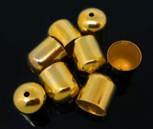 Koncovka 10x11 mm, vnitřní průměr 9 mm, 2 ks, zlatá