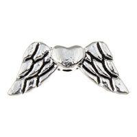 Křídla anděla 18x8 mm, 50 ks, starostříbrná