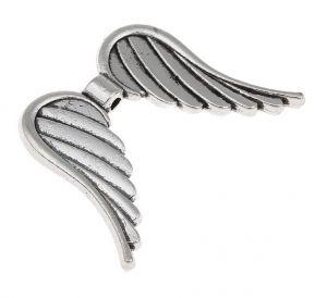 Křídla anděla 35x26 mm, starostříbrná
