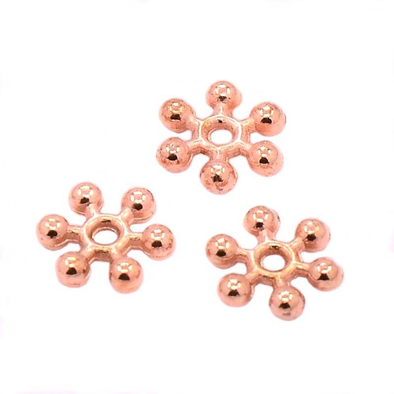 Květ s rameny 8,5 mm, 20 ks, růžová zlatá