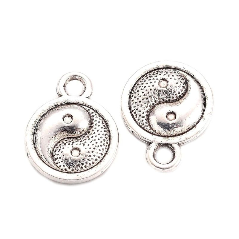 Přívěsek se symbolem Jin-Jang, 13x10 mm, starostříbrný