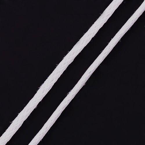 Voskovaná šňůra 1 mm, 0,7 mm, bílá