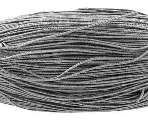 Voskovaná šňůra 0,7 mm, 1 m, světle šedá
