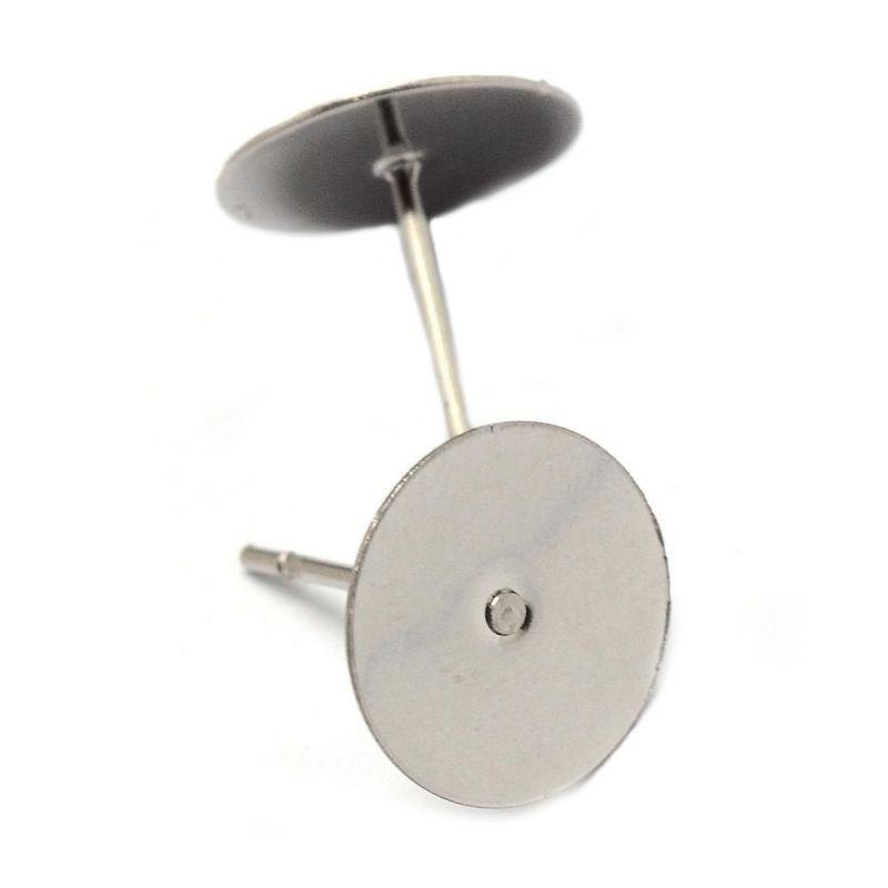 Puzeta s ploškou k nalepení 10 mm, 2 ks, chirurgická ocel