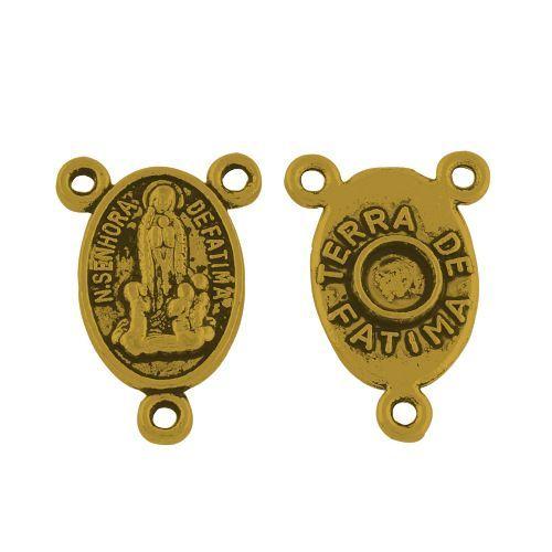 Spojka na růženec 18x12 mm, 10 ks, antik zlatá