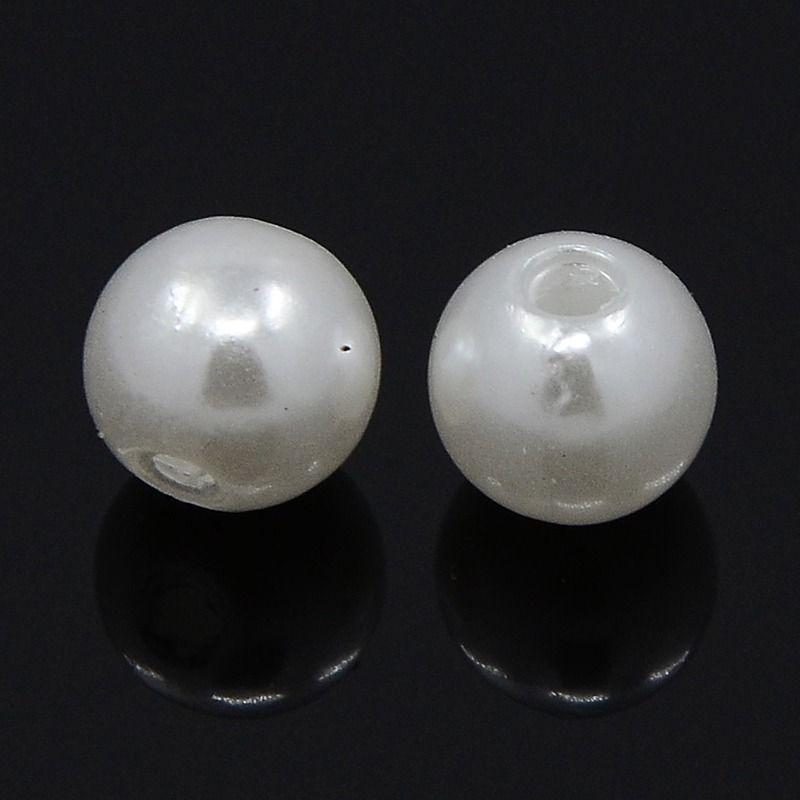 Imitace perly 3 mm, 100 ks, bílá