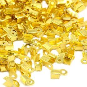 Koncovka na kůži 9x3x4 mm 10 ks, zlatá