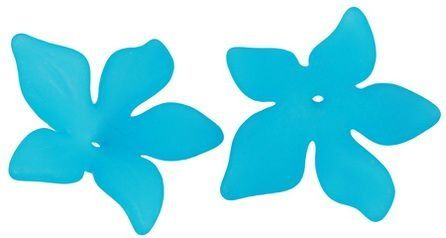 Akrylový květ 29 mm, 2 ks, tyrkysový