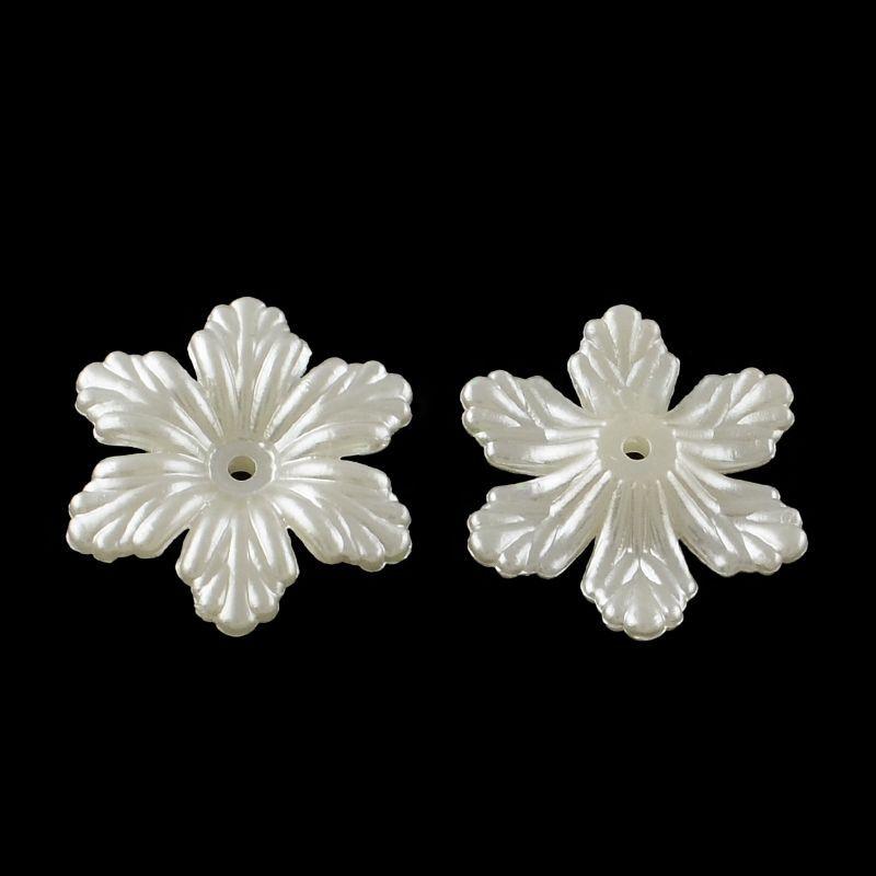 Akrylový květ perleťový 24x27 mm
